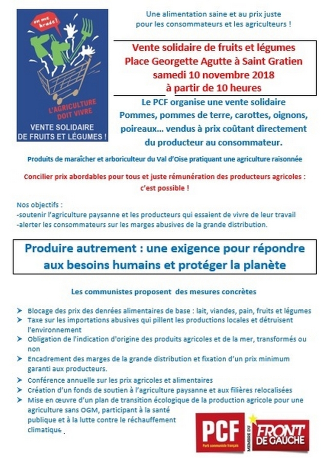 flyer fruits et légumes 2018