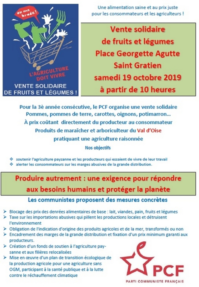flyer fruits et légumes 2019