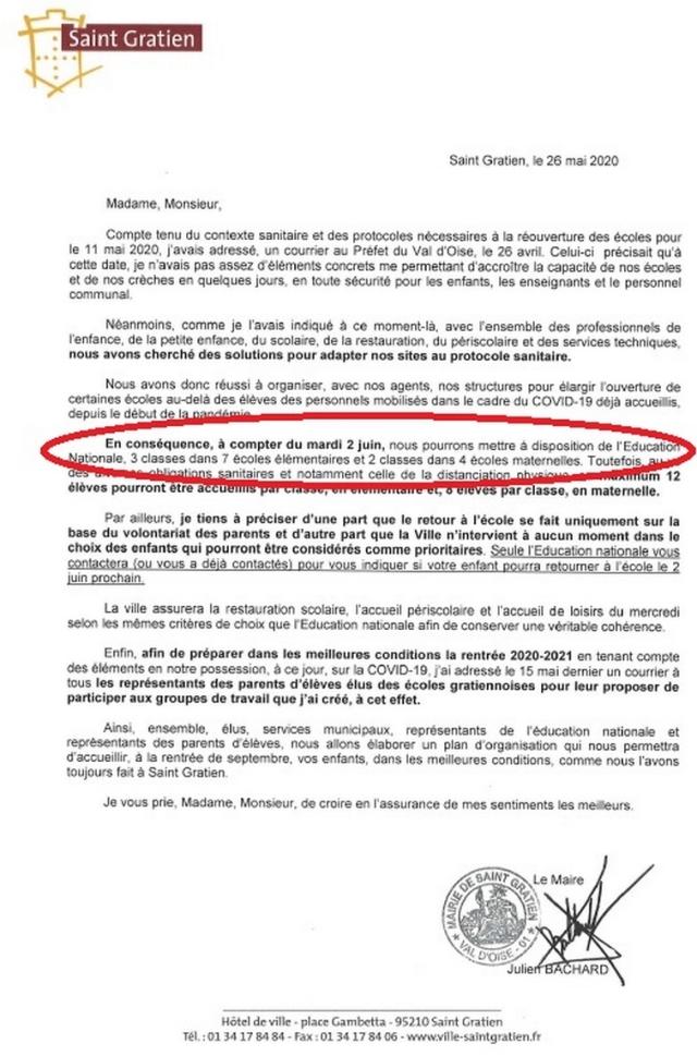 lettre maire mai 2020 bis